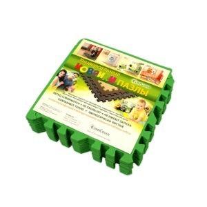 Универсальный коврик-пазл «Euro Cover», зеленый 30х30