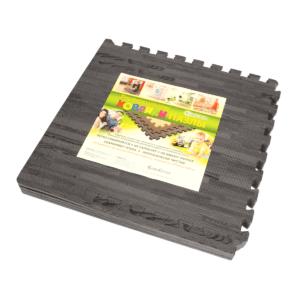 Универсальный коврик-пазл «Euro Cover», дерево темно-серый 50х50