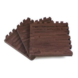 Универсальный коврик-пазл «Euro Cover», дерево темно-коричневый 30х30