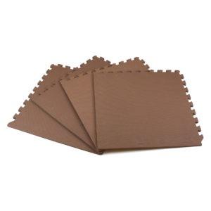 Универсальный коврик-пазл «Euro Cover», коричневый 50х50